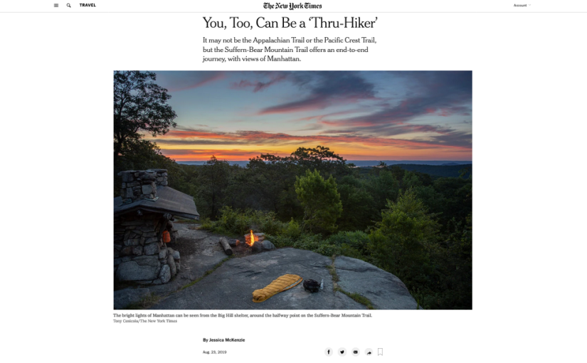 New York Times: You, Too, Can Be a 'Thru-Hiker'